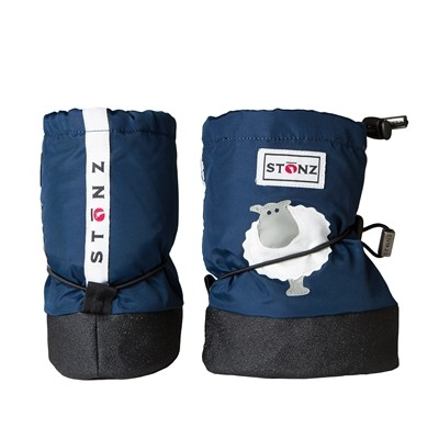Stonz Μαλακά Μποτάκια Booties Sheep Navy Blue