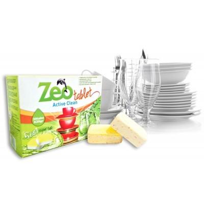 Zeo Tablet Active Clean Απορρυπαντικό για πλυντήριο πιάτων 30 Ταμπλέτες με άρωμα Λεμόνι