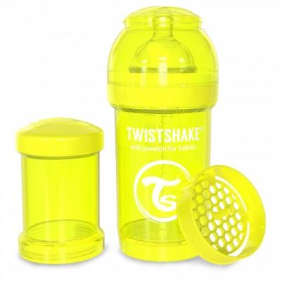 Twistshake Μπιμπερό Κατά των Κολικών 180ml Κίτρινο