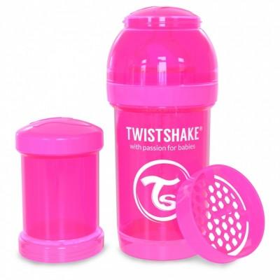 Twistshake Μπιμπερό Κατά των Κολικών 180ml Ροζ