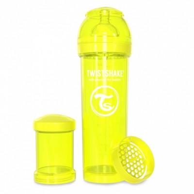 Twistshake Μπιμπερό Κατά των Κολικών 330ml Κίτρινο