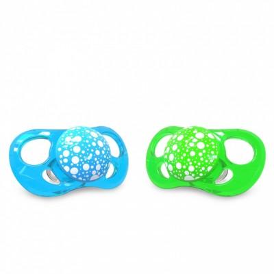 Twistshake Πιπίλα Σιλικόνης χωρίς BPA 6+μηνών 2τμχ Πράσινη Μπλε