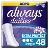 Always Σερβιετάκια Dailies Extra Protect Large 32+16τμχ ΔΩΡΟ