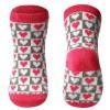 BabyOno Αντιολισθητικά Καλτσάκια με Ροζ Καρδούλες 12-24 μηνών