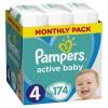 Πάνες Pampers Active Baby Νο 4 Monthly Box 174τμχ (8-16kg)