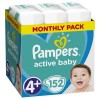 Πάνες Pampers Active Baby Νο 4+ Monthly Box 152τμχ (9-18kg)