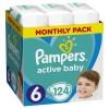 Πάνες Pampers Active Baby Νο 6 Monthly Box 124τμχ (15+kg)