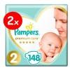 Πάνες Pampers Premium Care Νο 2 Mega Box 2x148τμχ (4-8kg)