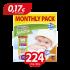 Πάνες Babylino Sensitive No3 (4-9Kg) Monthly Pack 224τμχ