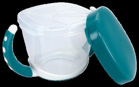 NUK Εκπαιδευτικό Μπολ για Σνακ Easy Learning Snack Box 36m+ Τιρκουάζ