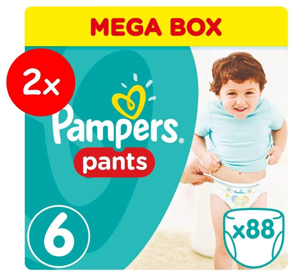 Πάνες Βρακάκι Pampers Pants Νο 6 Mega Box 2x88τμχ (16+kg)